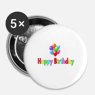 Happy Birthday Happy Birthday Balloon - Buttons/Badges lille, 25 mm