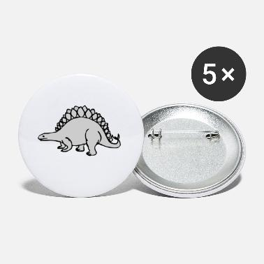 Grey Grey Dinosaur - Small Buttons