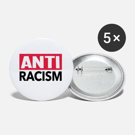 Racism Buttons - Anti Racism - Anti Racism Shirt - Small Buttons white