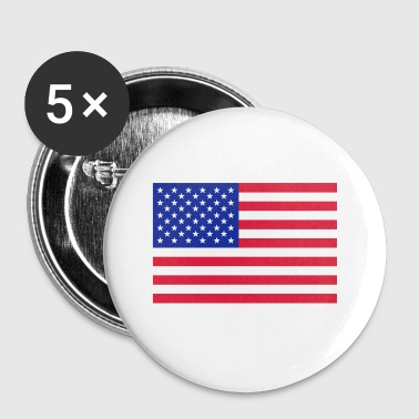 Usa USA Flag - Buttons klein 25 mm