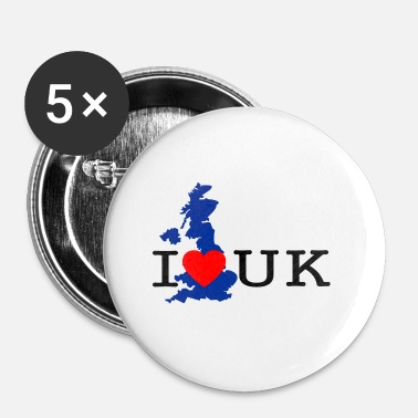 Uk J'adore UK - Badge petit 25 mm