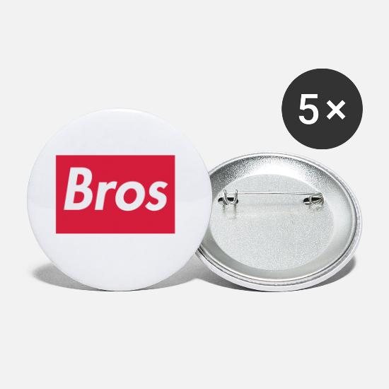 Rosso Bottoni & Spille - Bros - Spille piccole bianco
