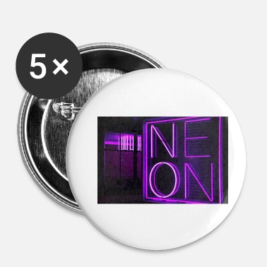 Néon néon - Badge petit 25 mm
