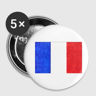 Drapeau français tricolore France - Badge petit 25 mm