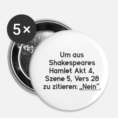Shakespeare Shakespeare Hamlet NO - Buttons small 25 mm