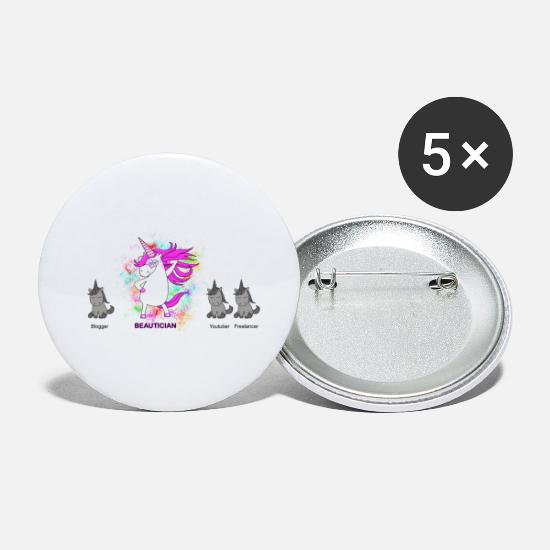 Beauticians Buttons - Beautician beautician profession - Small Buttons white