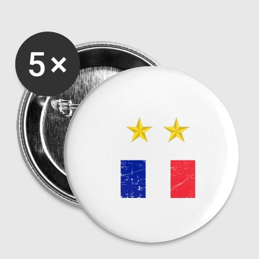 Champion du monde de football France - Badge petit 25 mm
