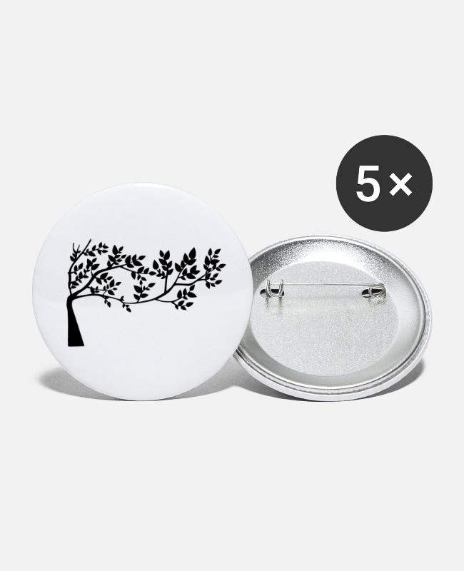 Nature Buttons - Tree - Small Buttons white