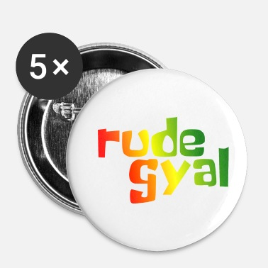 Rude Rude Gyal - Buttons klein 25 mm (5-pack)
