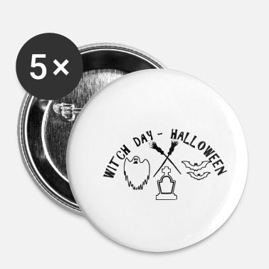 Korting Witchday Halloween heksen korting - Buttons klein 25 mm (5-pack)