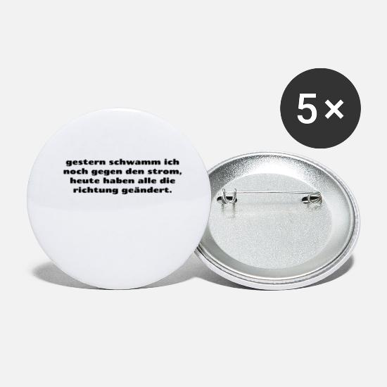 Gift Idea Buttons - against the stream - Small Buttons white