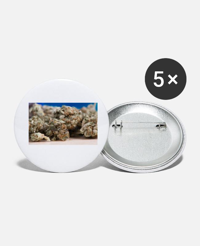Cannabis Buttons - Cannabis Plant Super Skunk - Buttons klein wit