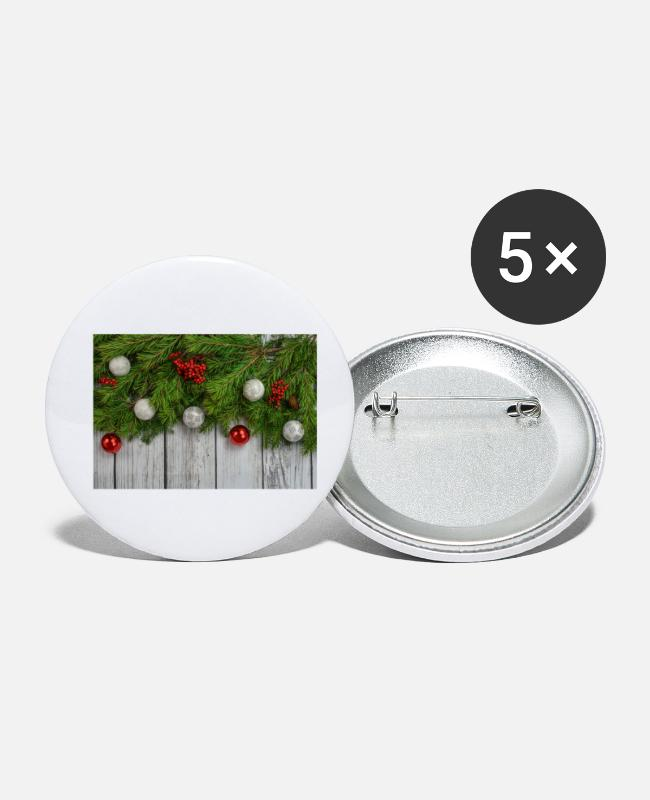 Beste Buttons - Fir takken Christmas Christmas Advent deco - Buttons klein wit