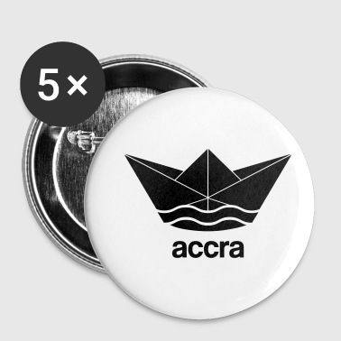 Cool Accra paper ship design Ghana - Buttons small 25 mm