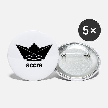 Accra Cool Accra paper ship design Ghana - Small Buttons