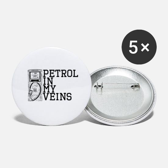 Gift Buttons - Workshop monteur auto garage benzine cadeau - Buttons klein wit