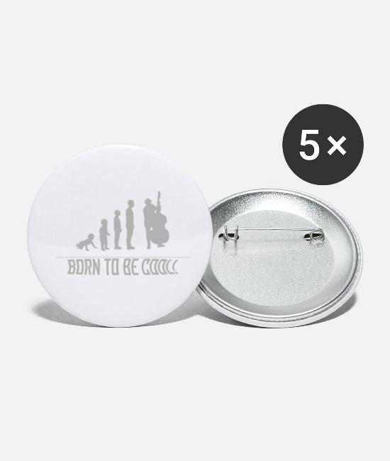 Gift Buttons - Double Bassist - Human Development - Buttons klein wit