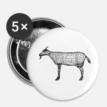 Chèvre chèvre - chèvre - Badge petit 25 mm