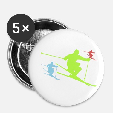 Ski Resort ski - Buttons/Badges lille, 25 mm