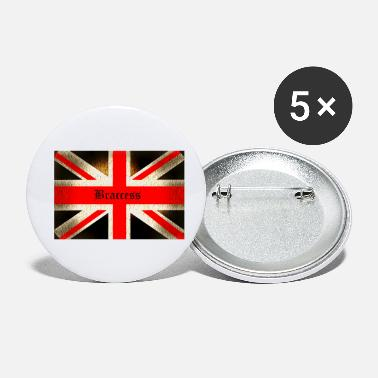No Brexit Braccess no Brexit flag United Kingdom - Small Buttons