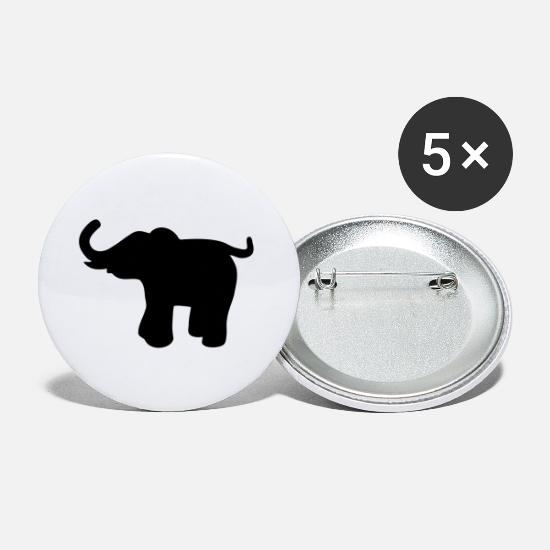 Wilderness Buttons - Elefant 2 - Small Buttons white
