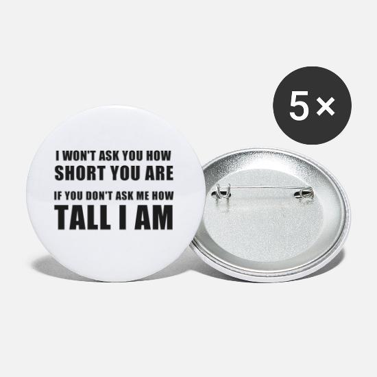 Citaten Grappig Cadeau : Grappig citaat tall big man vrouw persoon cadeau buttons klein