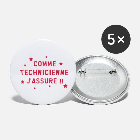 Laboratoire Badges - Technicien / Technicienne / Technologie / Pro - Petits badges blanc