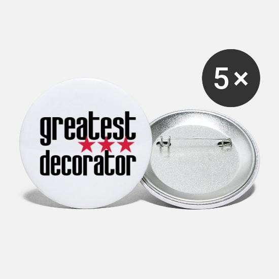 Painter Buttons - Decorator / Designer / Dekorateur / Décorateur - Small Buttons white