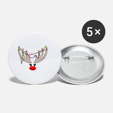 Rudolf the reindeer - white / red - Small Buttons