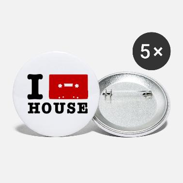 i love house - Buttons klein