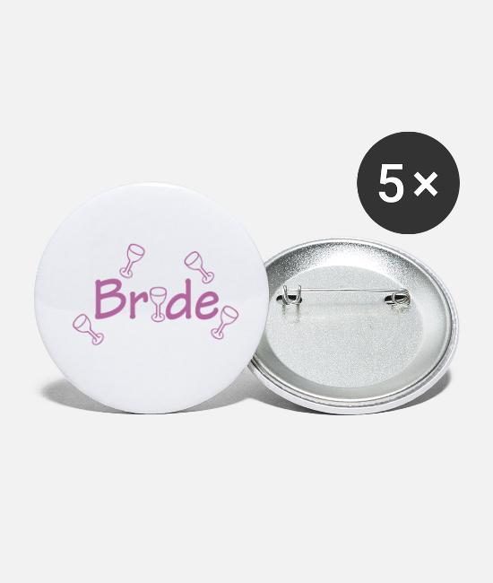 Bride Buttons - Bride (wedding, honeymoon) - Small Buttons white