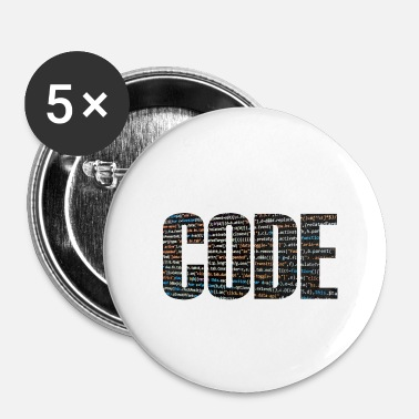 Code Code - Buttons klein 25 mm (5-pack)