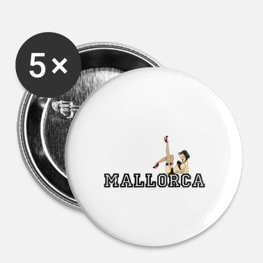 Macho Mallorca - Espanja - Malle - Pin Up Girl - Ranta - Rintamerkit pienet 25 mm