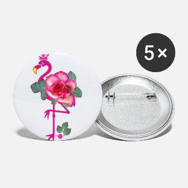 29 Roze Flamingo Crown Rose - Buttons klein