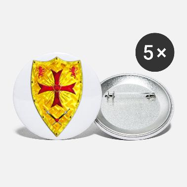 Ridderkors Crusader Shield ridderkors Swords Loewen - Små buttons