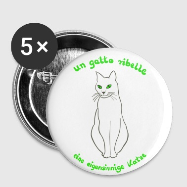 Chat en italien - Badge petit 25 mm