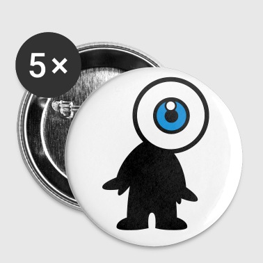 Eyeball Mr Eyeball by Cheerful Madness!! - Buttons small 25 mm
