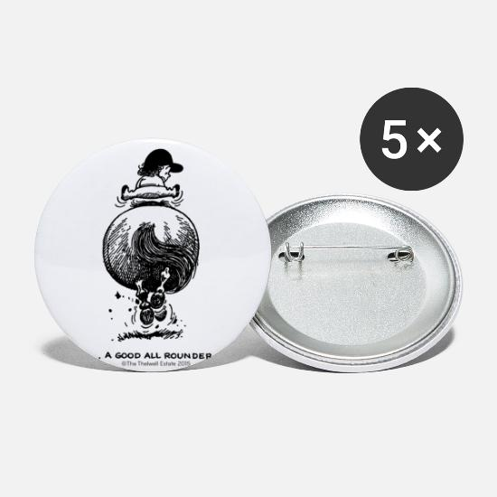 Thelwell Buttons - PonyGalopp Thelwell Cartoon - Small Buttons white