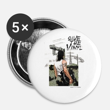 Turntable électro DJ Turntable Save the Vinyl - Badge petit 25 mm