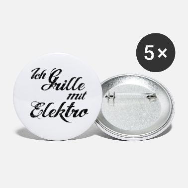 Electric barbecue grill lettering - Small Buttons