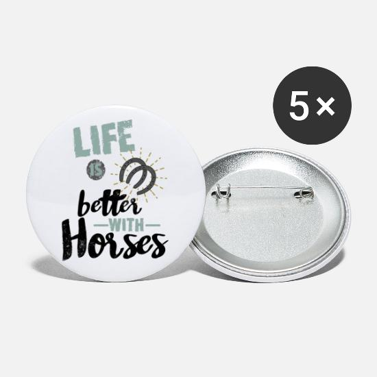 Gift Idea Buttons - Horse Horse Sayings - Small Buttons white
