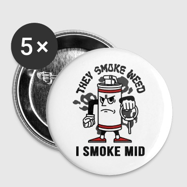 THEY SMOKE WEED I SMOKE MID CS:GO - Badge petit 25 mm