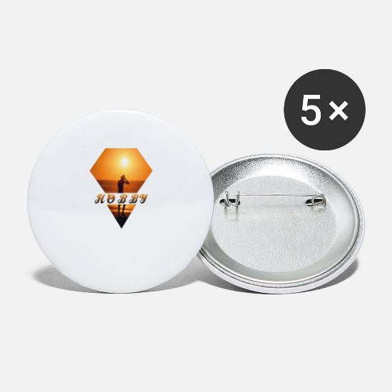 Surfing Buttons - Hobby at sunset - hobby at sunset - Small Buttons white