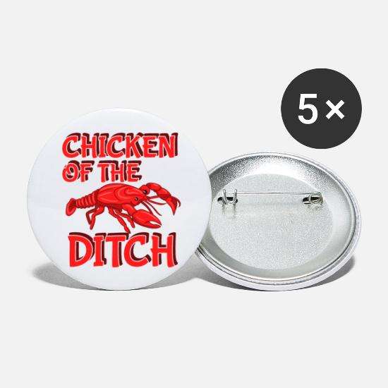 Fluss Buttons & Anstecker - Chicken Of The Ditch - Buttons klein Weiß