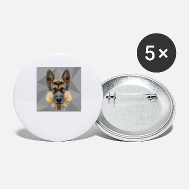Style German Shepherd Dog Polygon Dog Lover Cool Funny - Small Buttons