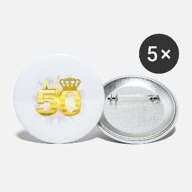 50 Birthday 50 - Birthday - Queen - Gold - Small Buttons
