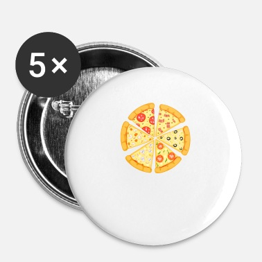 Pizza Pizza! Du hade mig på pizza - Små knappar 25 mm (5-pack)