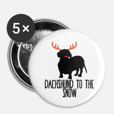 Dachshund Dachshund / Dachshund: Dachshund To The Snow - Buttons small 25 mm