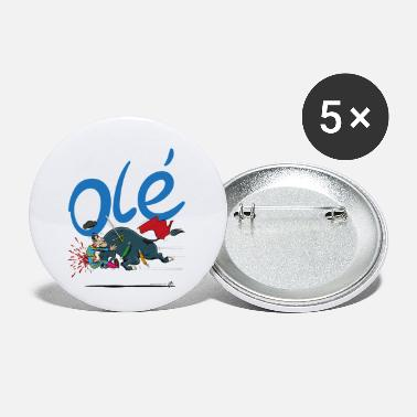 Bullfighting Olé, unfortunate bullfighter (for light shirts) - Small Buttons