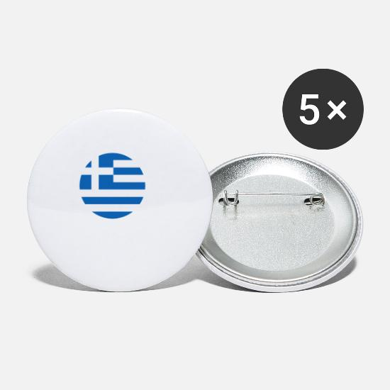 Greece Buttons - MADE IN ATHENS - Small Buttons white